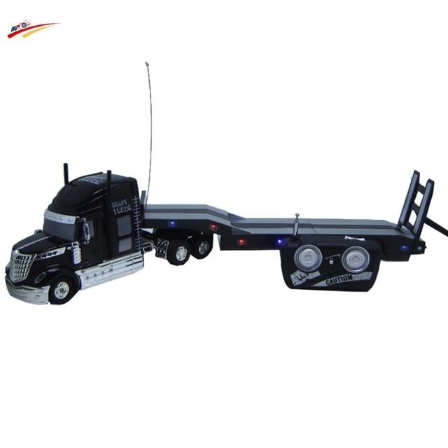 RC Автомобиль 6 Канала 12 Резиновые Шины Самосвал Автомобиль Дистанционного Управления Super Long Platform Transporter Трейлер