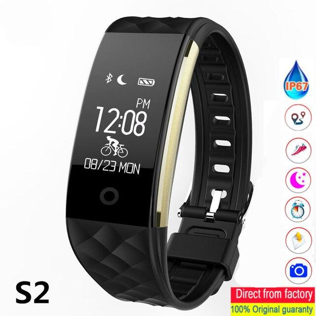 S2 สร้อยข้อมือสมาร์ท GPS ติดตามสมาร์ทสายรัดข้อมือ Heart Rate Monitor IP67 กีฬาฟิตเนส Tracker สร้อยข้อมือบลูทูธสมาร์ท