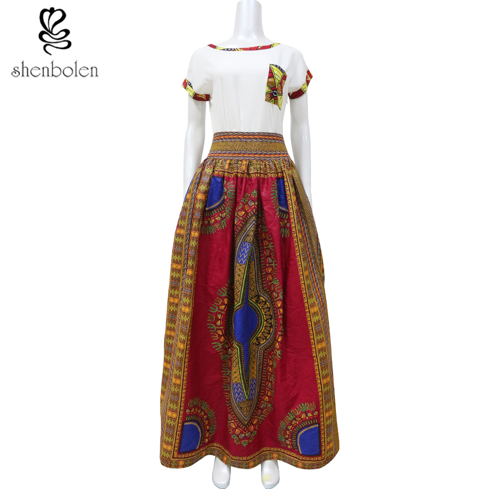 shenbolen 2018 Summer women traditional african clothing ball gown ...