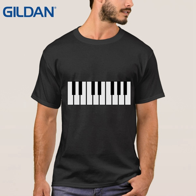 Hip Hop black ali t shirts Piano Keyboard Keys Rock Player Playing Pianist  Keytar Jazz Blues tee shirt camisa cotton Rendering-in T-Shirts from Men's
