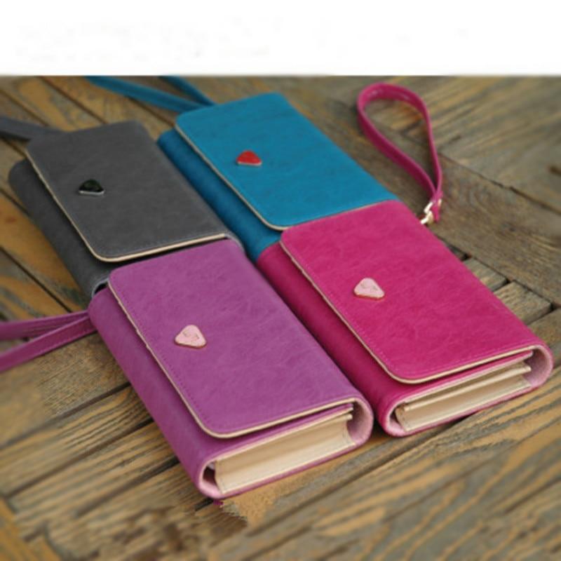 2018 Fashion Women Wallets wristlet handbag solid Leather Long bag famous designer clutch Lady brand Cash phone card coin Purse