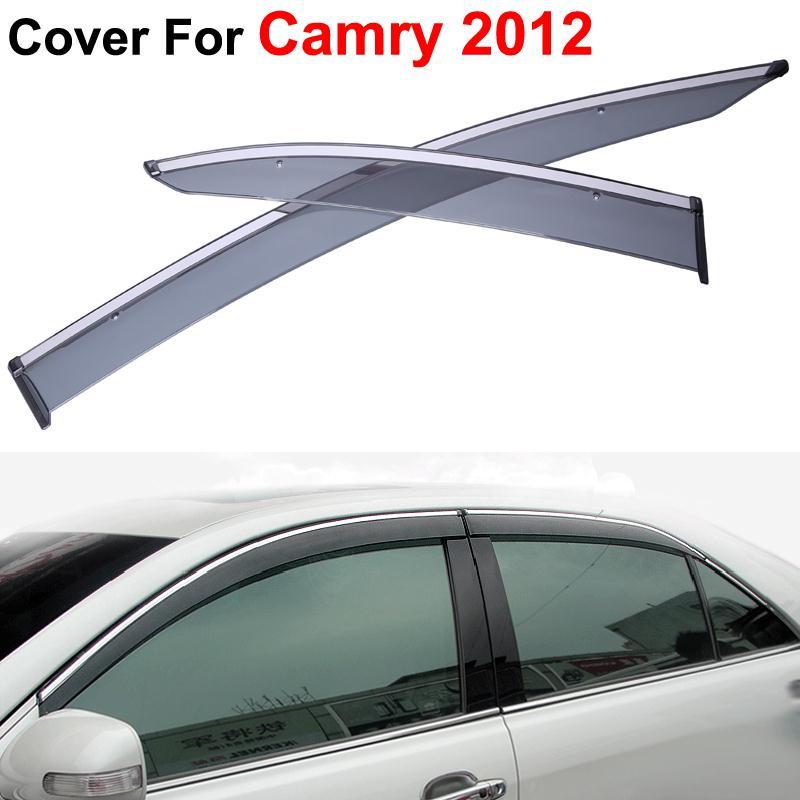 4pcs lot Vent Rain Sun Shield Window Side Visor For Toyota Camry 2012 2013 2014 Stickers