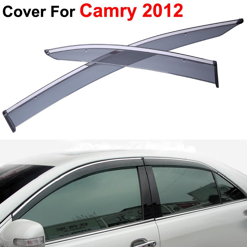 4pcs/lot Vent Rain Sun Shield Window Side Visor For Toyota Camry 2012 2013 2014 Stickers Covers Car Styling Auto Accessories