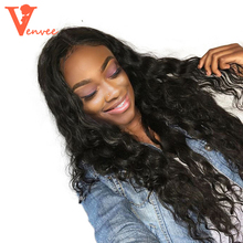 Loose Wave Full Lace Human Hair Wigs Pre Plucked 250 Density Curly Lace Front Human Hair Wigs With Baby Hair Brazilian Venvee