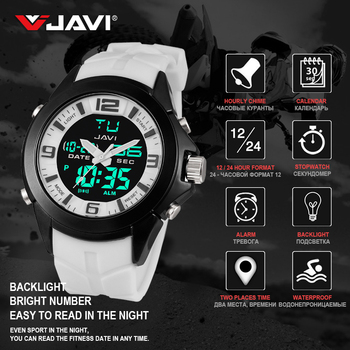Luxury Brand Sports Watch Men Waterproof Dive 30m Digital Electronics Wristwatches Hot Clock Fashion 4 Colors Watches For Gift
