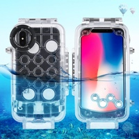 Professional Waterproof Diving Protective 40m/130ft Housing Photo Video Underwater Transparent Cover Case For iPhone X 7/8 plus