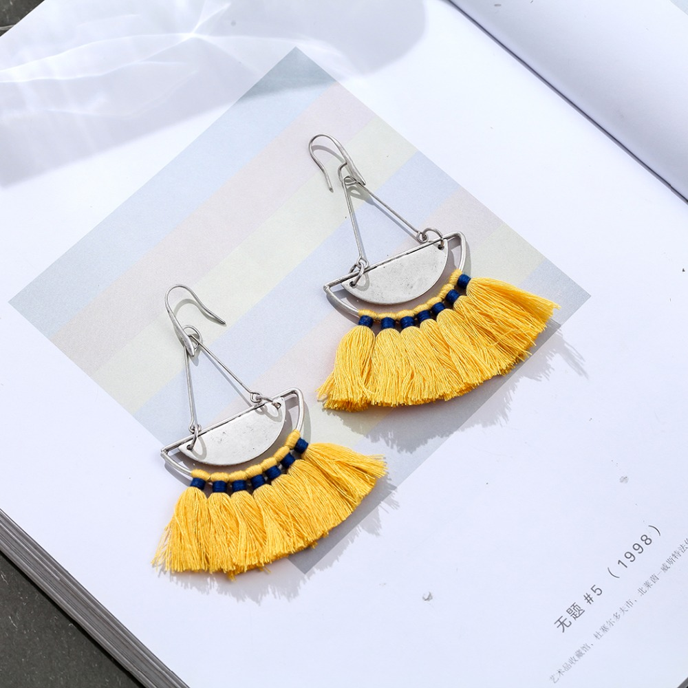 Hot Selling Beautiful Red Color Tassel Women Earrings Wholesale Jewelry Dangle pendientes brincos Hotsale earrings for Women in Drop Earrings from Jewelry Accessories