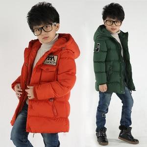 Image 1 - 2018 חדש בגדי ילדים בני כותנה מעיל ילד חם עבה חורף מעיל מעיל ילד כותנה מרופדת חורף מעיל סלעית