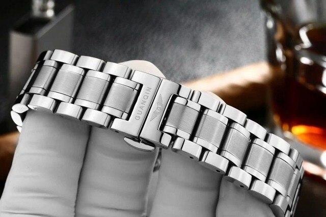 Reloj de la pulsera 100% Pulsera de acero Inoxidable, reloj de correa de acero para GUANQIN Relojes