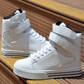 White Pu Leather Hook Loop Men Shoes 2017 Autumn Winter High Top Casual Flat Lace Breathable Male Zapatillas Deportivas Hombre
