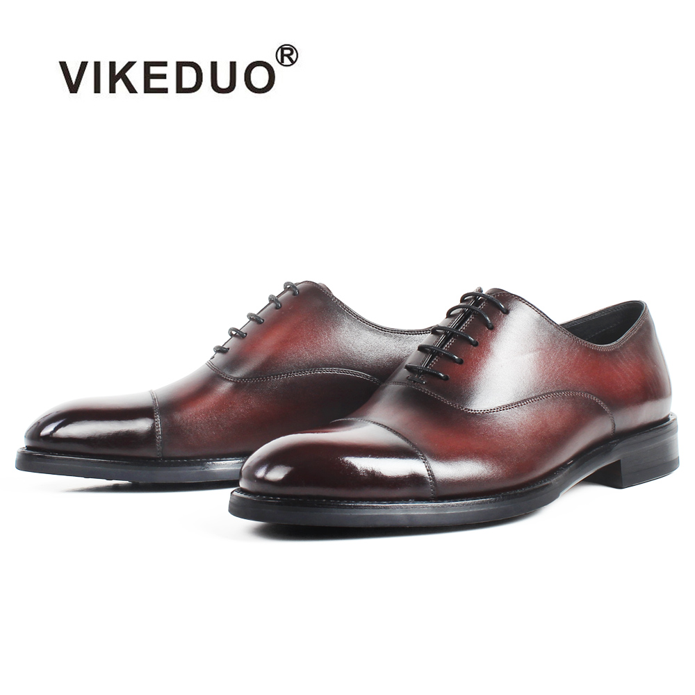 VIKEDUO Patina Oxford Dress Shoes For Men Genuine Cow Leather Shoe Male Handmade Wedding Office Mans Footwear Big Size ZapatosVIKEDUO Patina Oxford Dress Shoes For Men Genuine Cow Leather Shoe Male Handmade Wedding Office Mans Footwear Big Size Zapatos