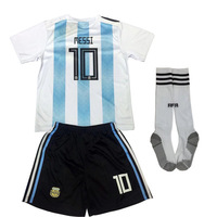 World Cup 2018 Russia Casual Short Sleeve Tee Spain Argentina Jersey T Shirt Pants Socks Kids