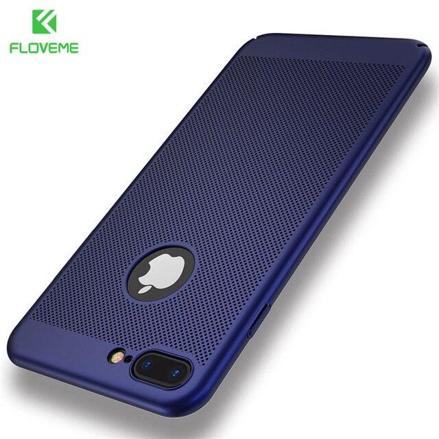 FLOVEME Luxury Phone Cases para iPhone 5 5S SE, preto/Vermelho Fosco Casos Saco Do Telefone Móvel para o iphone 7 6 6 s Plus X Tampa + Logotipo Buraco