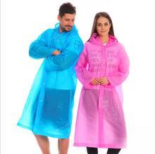 2PC Fashion Clear Raincoat Women Waterproof Rain Coat Men Poncho Windbreaker Cover Regenmantel