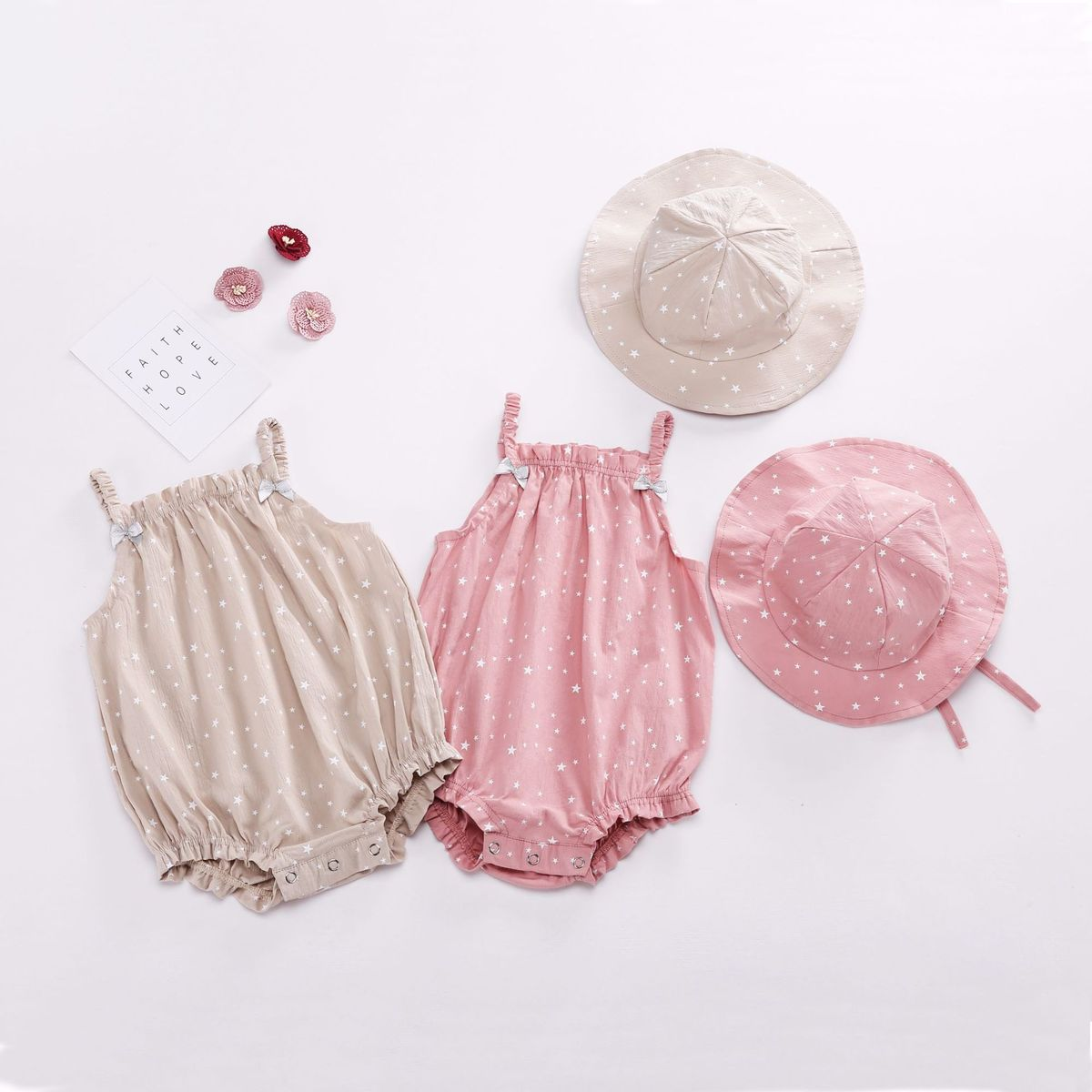2018 Ins Newborn Baby Summer Rompers With Hat 2pcs Set Cotton And Linen Comfortable Breathable Baby Clothing Newborn Clothes sr039 newborn baby clothes bebe baby girls and boys clothes christmas red and white party dress hat santa claus hat sliders