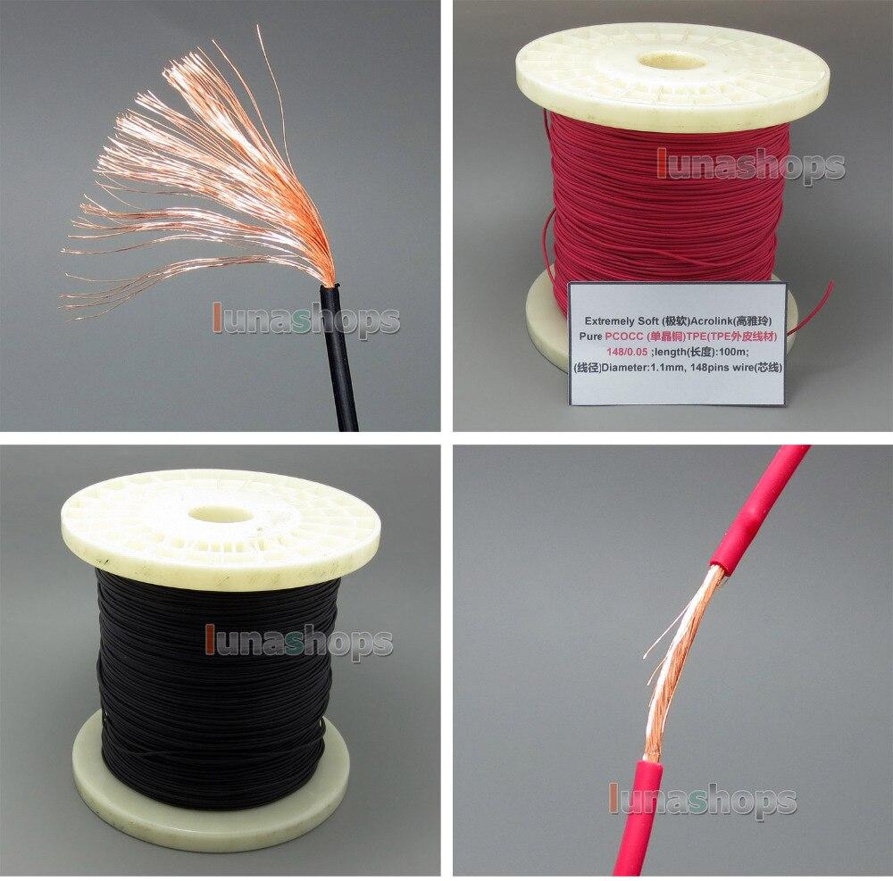 ФОТО 10m Ultra Soft Acrolink PCOCC Signal Teflon TPE Earphone Cable 148*0.05 23AWG Dia:1.1mm LN005022