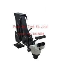 Изготовление ювелирных изделий инструменты и оборудование Jewelry 7X 45X микроскоп с светодиодные кольца diamond Микроскоп