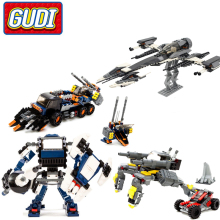GUDI Star Wars Phantom Fighter Alien Space Star wars Building Blocks Bricks Model DIY Educational Bricks Toys for Children Gifts 2017 hot new 1068pcs 05052 star series the at robot st building blocks bricks set toys 10174 educational gifts toys wars