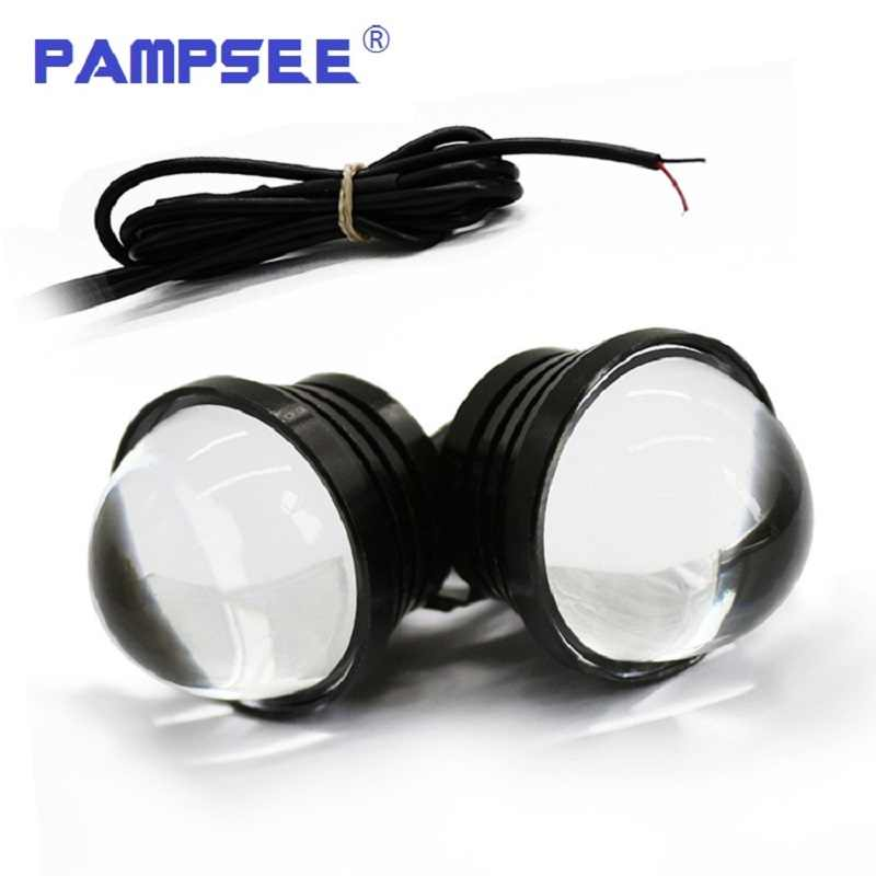 2pcs Spotlight DRL Motorcycle Eagle Eye lamp +Daytime Running Light LED Car Screw Lamp Source Waterproof For VW toyota ford