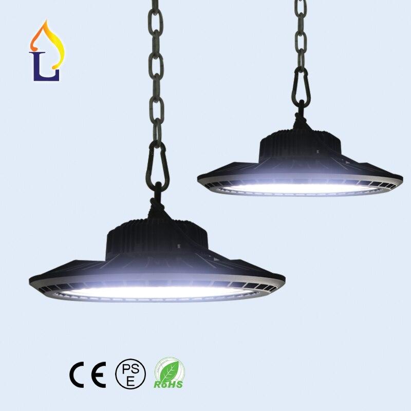 5pcs 50W 100W 150W 200W led UFO high bay light in industrial lighting outdoor 100 277V LED Spotlight floodlights waterproof