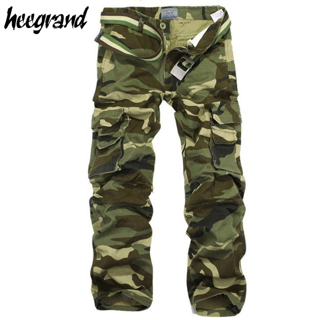 HEE GRAND Men Pants 2017 New Arrival Men Fashion Camouflage Pants Casual Style Trousers Pant Men Big Size 28-38 MKX133
