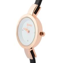 Abrray Waterproof Lady Wrist Watch Rose Gold Color Quartz Woman Hours Best Fashion Dress Slim Black PU Band Elegant Watches