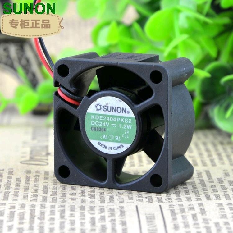 Sunon original kde2404pks2 24 v 1.2 w 4 cm 4020 2 fio magnético rolamento hypro ventilador de refrigeração