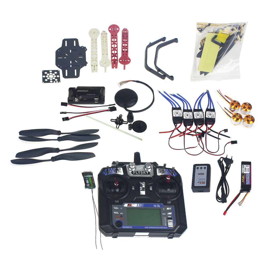 Full Set RC Drone Quadrocopter 4-axis Aircraft Kit F330 MultiCopter Frame 6M GPS APM2.8 Flight Control Flysky FS-i6 TX F02471-D rc drone quadcopter 4 axis aircraft kit f330 multicopter frame 6m gps apm2 8 flight control no transmitter no battery f02471 e