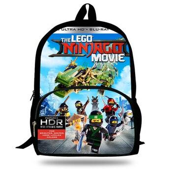 16 cal 2018 najnowszy Ninjago torba dla dzieci torby szkolne Cartoon Movie drukowane torby na ramię niestandardowe plecaki dla dzieci studentów