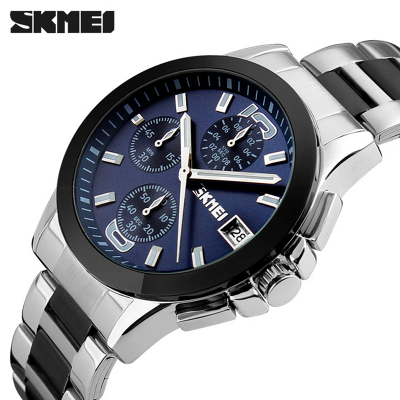 2016 Mens Watches fashion Top Brand Luxury SKMEI Men casual Sport Wristwatch Chronograph business Quartz Watch relogio masculino relogio masculino chronograph mens watches top brand sinobi luxury fashion business quartz watch man sport waterproof wristwatch