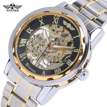 Mechanical Skeleton Wrist watch Transparent Gold Watch Men Watches Top Brand Luxury Relogio Male Clock Men Casual Montre Homme