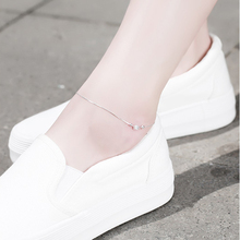 Fashion 925 Sterling Silver Geometric Squares Anklets Women Charm Brand Jewelry Free Shipping SA027