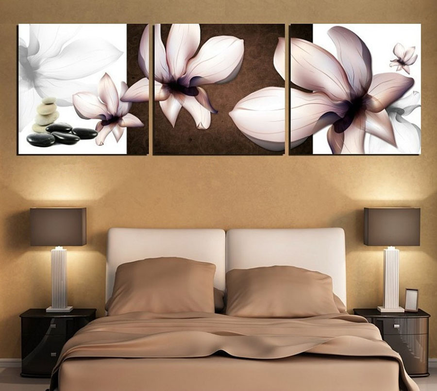 3 Piece Canvas Wall Art Modern Flowers Canvas Paintings Dinning Room Decorative Pictures HD Prints With Framed F-257