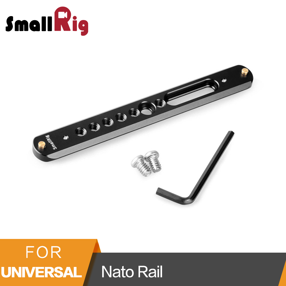 SmallRig Safety Nato Rail 150mm Long Nato With Safety Pin For Camera Quick Release Nato Handle NATO Clamps EVF Mount -1876