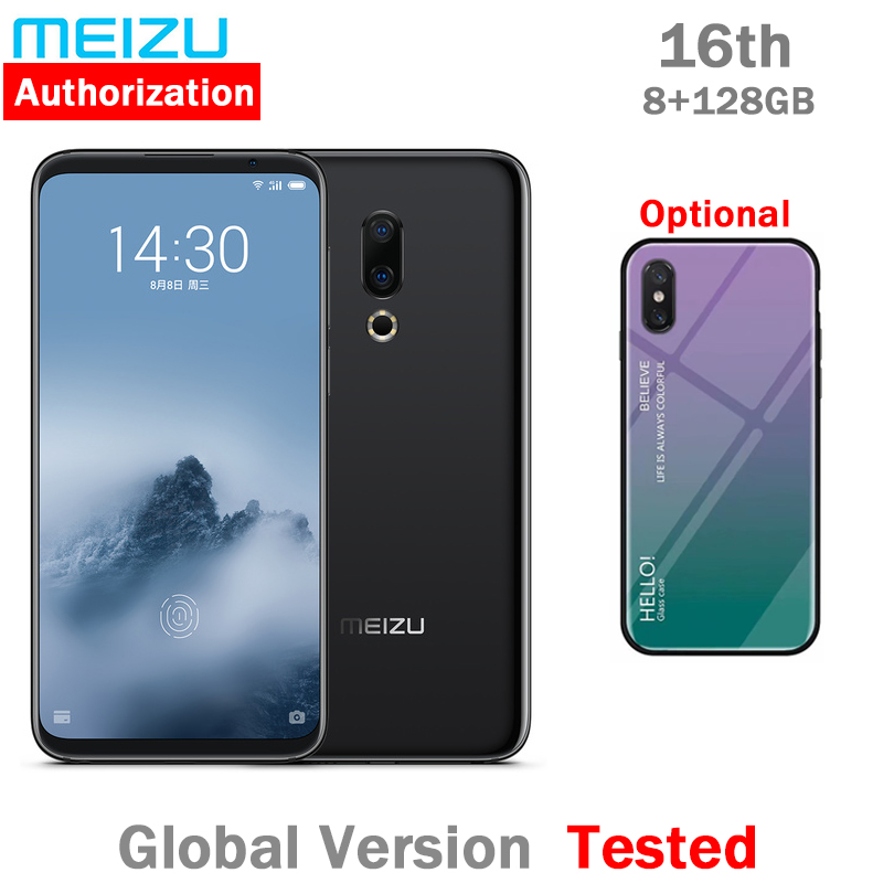 Global version Meizu 16th 16 Snapdragon 845 Octa Core Adreno 630 4g lte 8GB 128GB rom