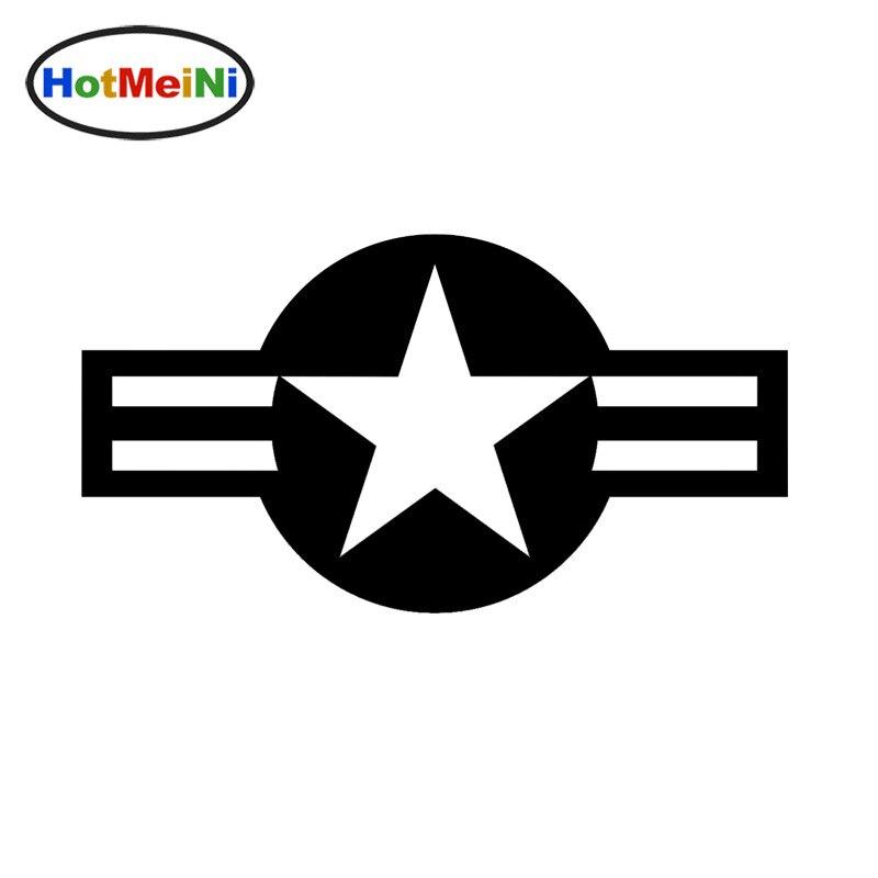 HotMeiNi 6.5x12cm USAF Circular Emblem Flag Vinyl Car