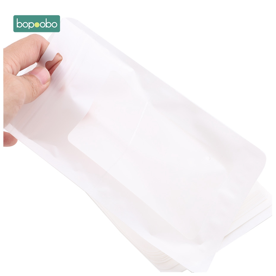 Bopoobo 20pc Plastic White Bags 11.5x19.5cm Display Bags Nursing Accessories Safe And Natural Jewelry Pendant Bags Binding Bag