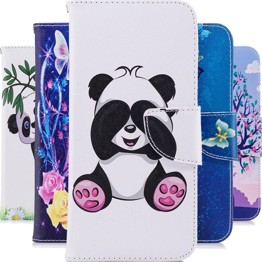 For <font><b>NOKIA</b></font> 1 2 3 5 6 <font><b>2018</b></font> 3D Cartoon panda Cases For <font><b>NOKIA</b></font> 2.1 3.1 <font><b>5.1</b></font> 6.1 <font><b>Luxury</b></font> Shockproof Wallet Leather Business Phone cover image