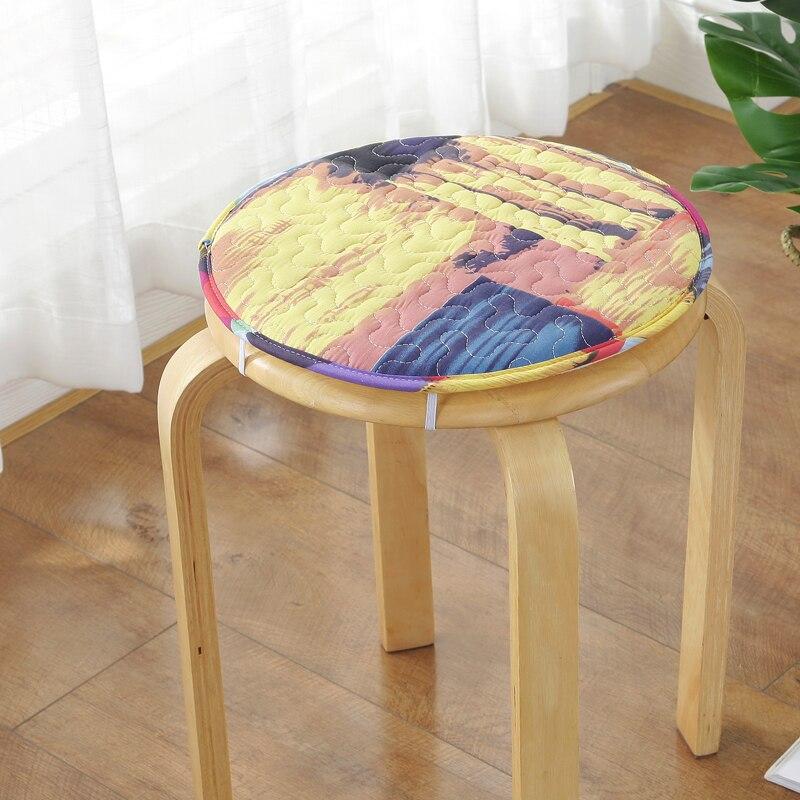 Foam Back Cushion For Home Decoration Round Warm Modern Seat Mat Diameter 45cm/50cm Chair Cushion Non-slip Seat Cushion Soft