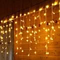 216 Светодиодный 5 м гирлянда СВЕТОДИОДНЫЙ занавес сосулька струнные огни Droop 0,4 м-0,8 м 220 В вечерние сценические наружные украшения световые с...