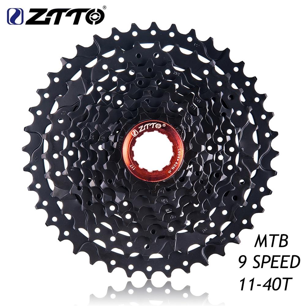 ZTTO 11-40 T 9 s Cassette 9 vitesses 40 t vtt VTT roue libre de volant de vélo Compatible pour Shimano M430 M4000 M3000 Sram