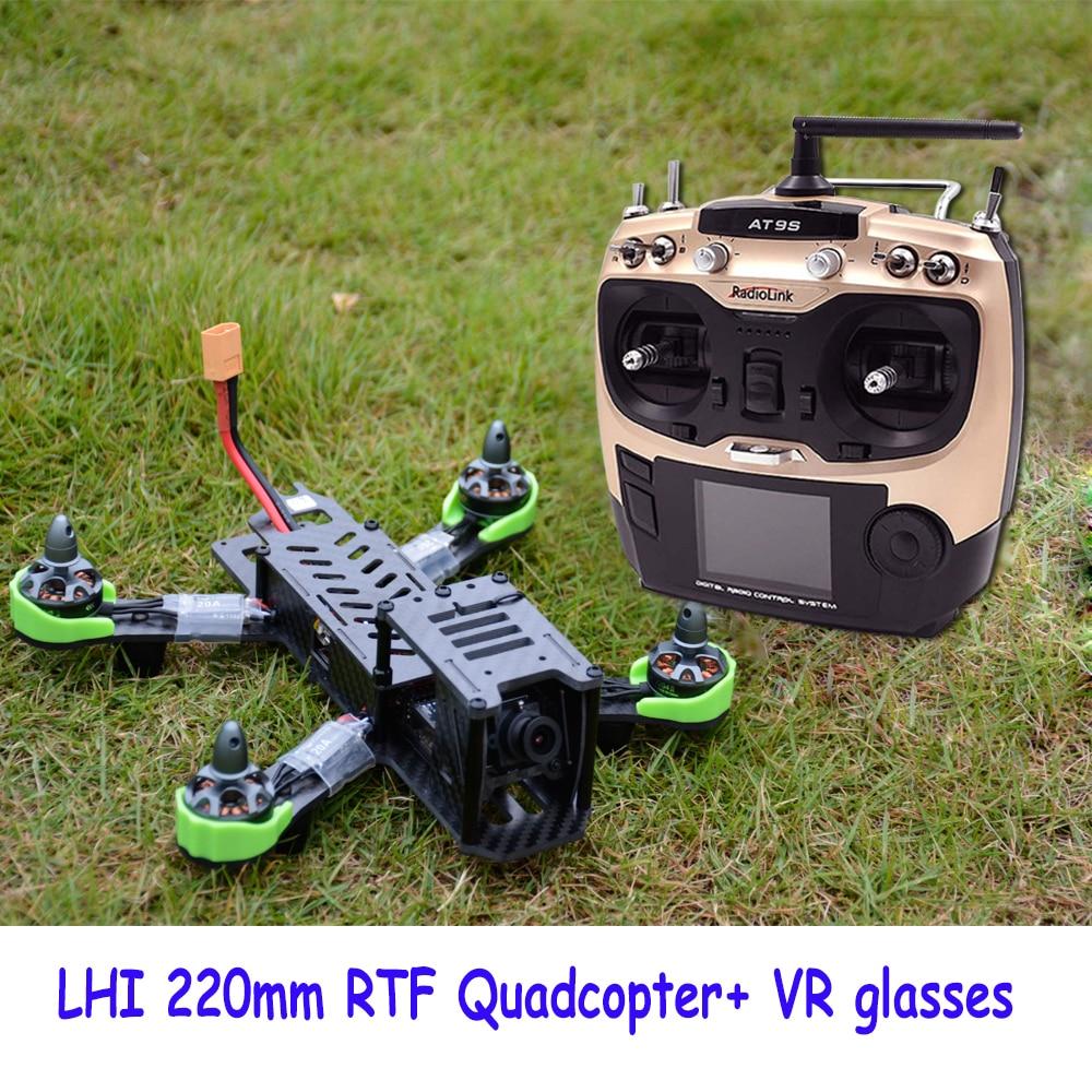 RC طائرة RTF QAV ZMR 220 ملليمتر Quadcopter withflight محاكاة AT9s radiolink 2.4 جرام التحكم عن 5.8 جرام كاميرا إضافة rc طائرة-في قطع غيار وملحقات من الألعاب والهوايات على  مجموعة 2
