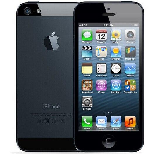 Цена за Оригинальный Iphone 5 A5 Завод Разблокирована Сотовый Телефон iOS OS Dual core 1 Г ОЗУ 16 ГБ 32 ГБ ROM 4.0 дюймов 8MP Камера WIFI 3 Г GPS