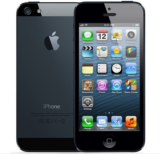 Original Iphone 5 A5  Factory Unlocked Cell Phone iOS OS Dual core 1G RAM 16GB 32GB  ROM 4.0 inch 8MP Camera WIFI 3G GPS