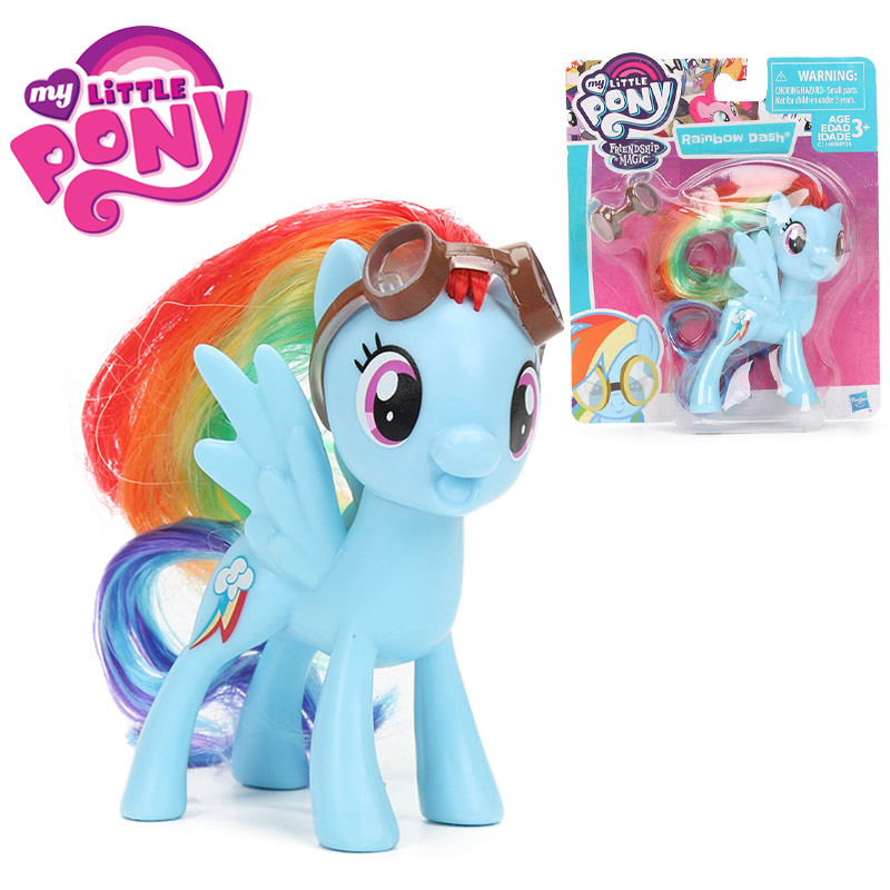 8cm Movie My Little Pony Figures Toys Friendship Is Magic Rainbow Dash PVC Action Figure Pony Collectible Model Dolls Brinqudoes
