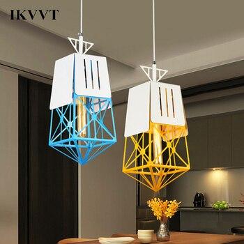 IKVVT LED Pendant Lights Lattice Type Pendant Lamp Indoor Lighting Hanging Lamp Dining Room Bedroom Lights For Home Decor