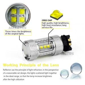 Image 3 - 2x רכב עמילות אור LED PW24W PWY24 CREE שבב DRL בשעות היום ריצת אור איתות ערפל החלפת הנורה עבור אאודי a3 a4 a5 q3