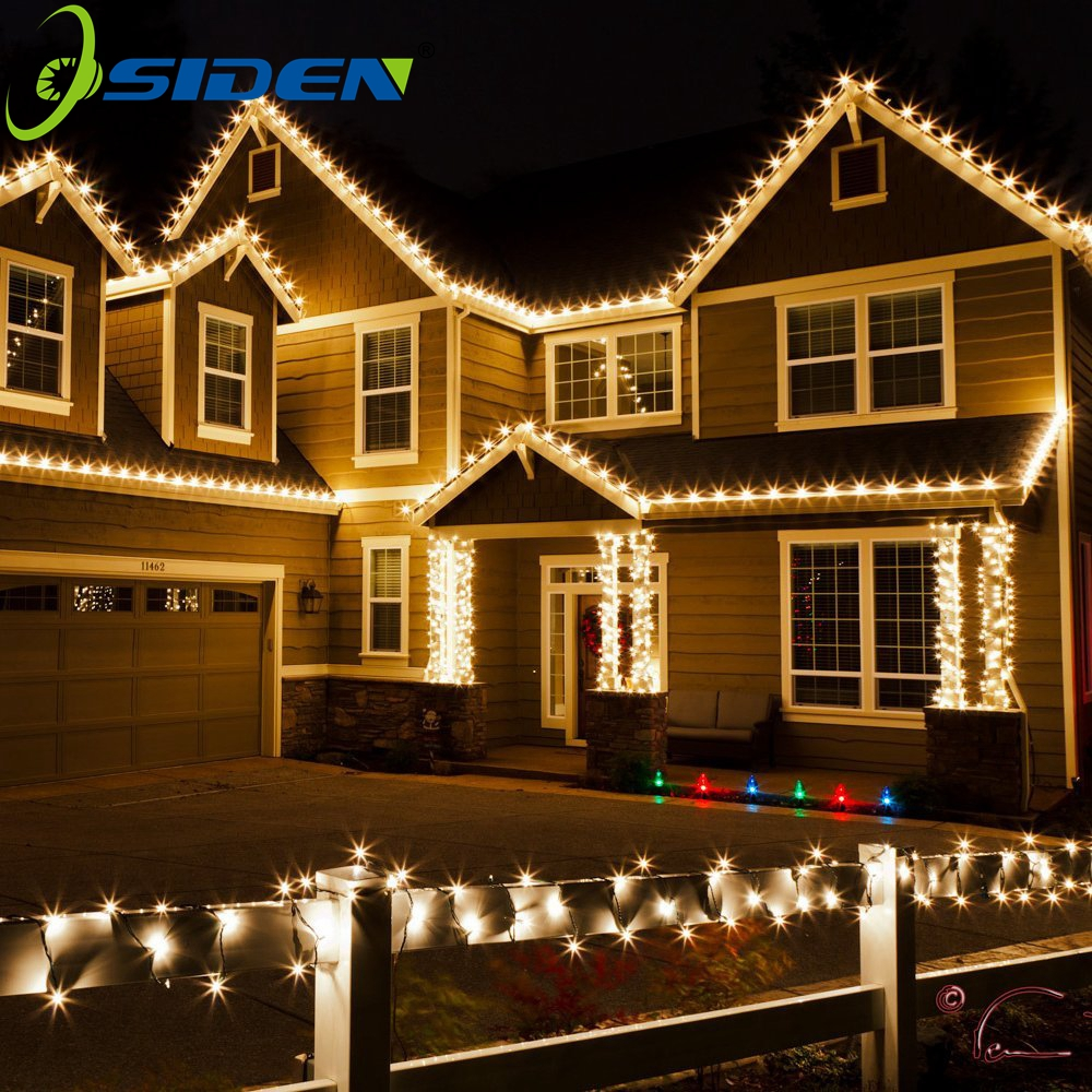 OSIDEN 20M Vanntett 110V 220V 200 LED Holiday String belysning For Decor Hjem Utendørs Julfestival Fest Fairy LED Strip