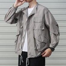 Safari Style Вентиляция На Открытом Воздухе Тонкий Солнцезащитный Крем Рабочая Одежда Мужской Куртка