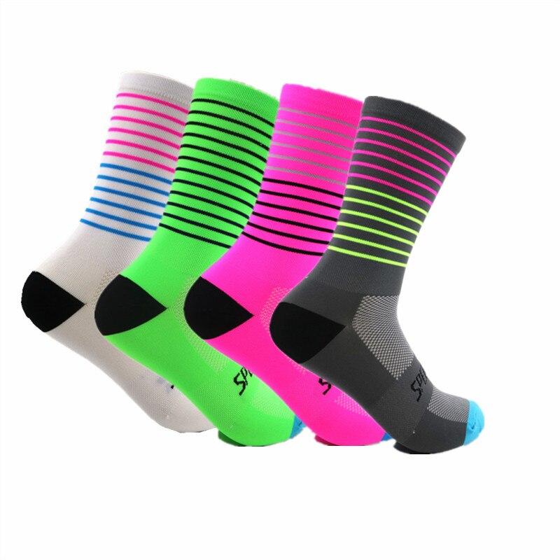 2019 Brand Colorful Sport Cycling Running Socks Men Women Sport Socks Coolmax